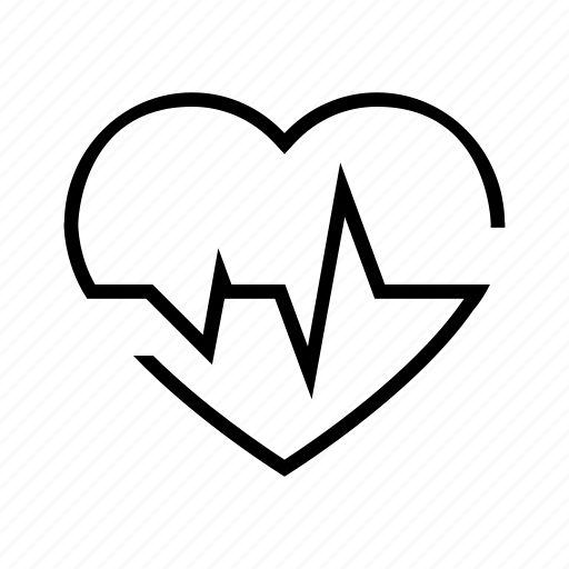 day, health, heart, heartbeat, pulsation, pulse, rate icon