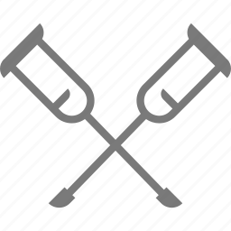 crutches, hospital icon