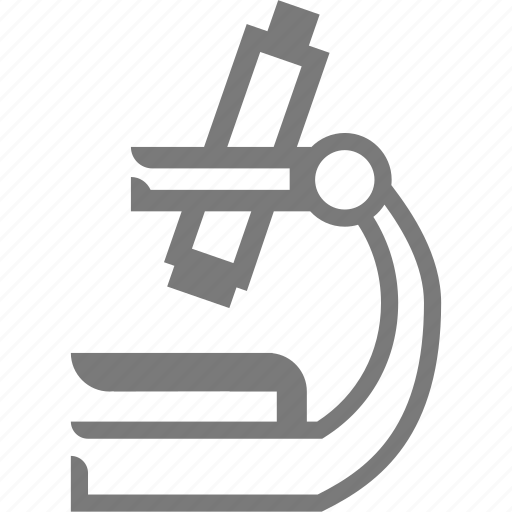 hospital, microscope icon