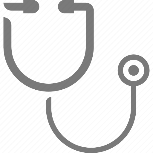 hospital, stethoscope icon