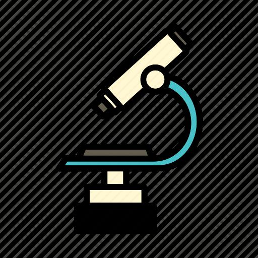 device, hospital, instrument, microscope, optical microscope icon