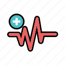 heart rate, heartbeat, hospital, medical, pressure wave, pulse, rhythm icon