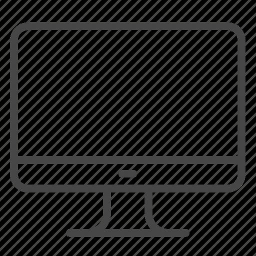 computer, facility, hostel, hotel, monitor, screen icon