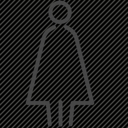 facility, female, girl, hotel, toilet, woman icon