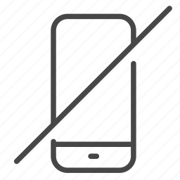 disallow, hotel, mobile, no, phone, prohibit, turn off icon