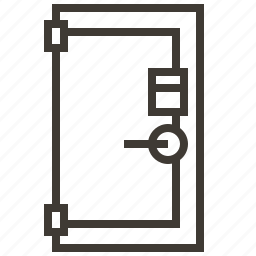 door, safe, secure, security icon