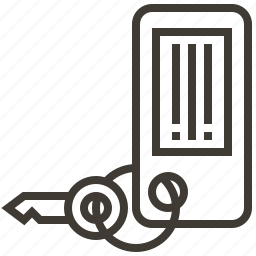 key, lock, room, unlock icon