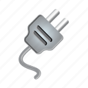 electric, electricity, energy, plug, power, wire icon