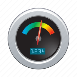 computer, device, devices, speedometer, technology icon