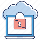 cloud computing, cloud data security, cloud services, cloud technology, data protection icon