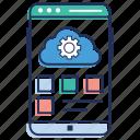 app, application development, mobile, mobile interface, phone, programming, ui icon