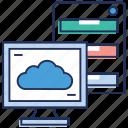 cloud computing, cloud data, cloud dataserver, cloud services, cloud technology icon