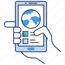 global access, global connection, mobile connection, mobile network, phone data icon