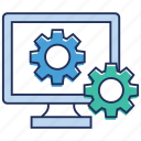computer settings, network configuration, system configuration, system maintenance, system settings icon