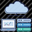 cloud computing, cloud data, cloud data network, cloud services, cloud technology icon