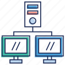 computer network, data server, lan, local area network, network hosting icon