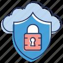 cloud computing, cloud data protection, cloud security, cloud services, cloud technology icon