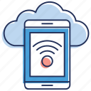 cloud connection, cloud wifi, internet connection, mobile wifi, network connectivity icon