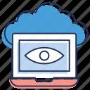cloud computing, cloud data, cloud monitoring, real time monitoring, remote monitoring icon