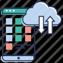 cloud computing, cloud data, cloud download, cloud services, cloud technology, cloud upload icon