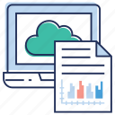 cloud computing, cloud data, cloud document, cloud file, cloud services, cloud technology icon