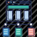 network database, shared network, web database, web hosting, web network icon