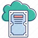 cloud computing, cloud data, cloud hosting, cloud storage, cloud technology icon