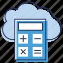accounting, cloud calculator, cloud computing, cost estimator icon