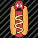 mustard, smiley, dog, hot, bun, weiner, emoji icon