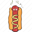 bun, dog, emoji, hot, mustard, smiley, weiner icon