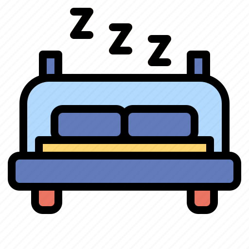 bed, bedroom, furniture, rest, room, sleep icon