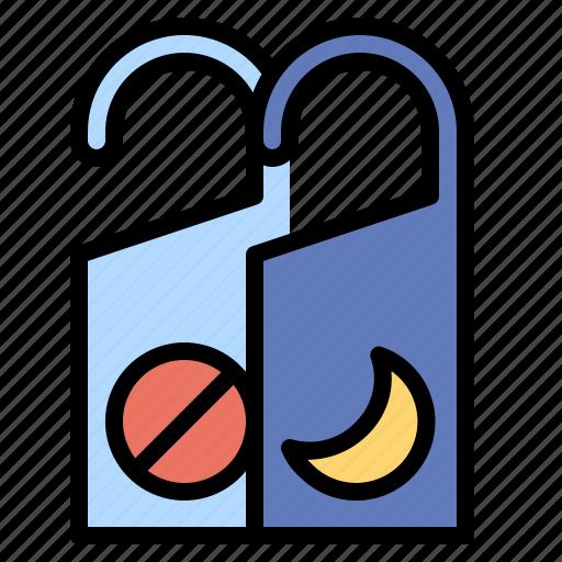 door, doorknob, hanger, hostel, hotel, signaling icon