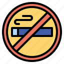 forbidden, no, prohibition, signaling, smoking, warming icon