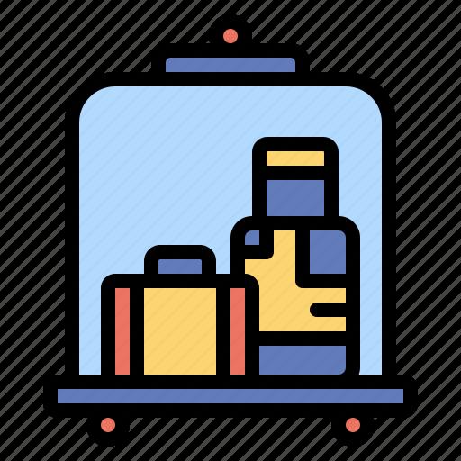baggage, cart, hotel, luggage, travel, trolley icon