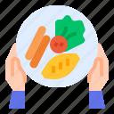 breakfast, food, hotel, omelet, pan icon