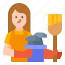 avatar, clean, hotel, maid, woman icon