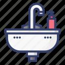 sink, bathroom, shower, bath