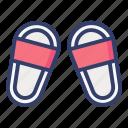 slippers, flip flops, footwear