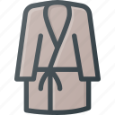 bath, bathrobe, bathroom, hotel, robe, spa icon