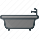 bath, bathroom, cleaning, hot, sefl, tub icon