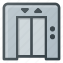 building, door, elevator, hotel, lift icon