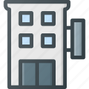 architecture, building, hotel, motel icon