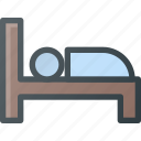 bed, hotel, sign, sleep icon