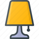 lamp, light, night icon