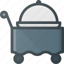 cart, food, room, service icon