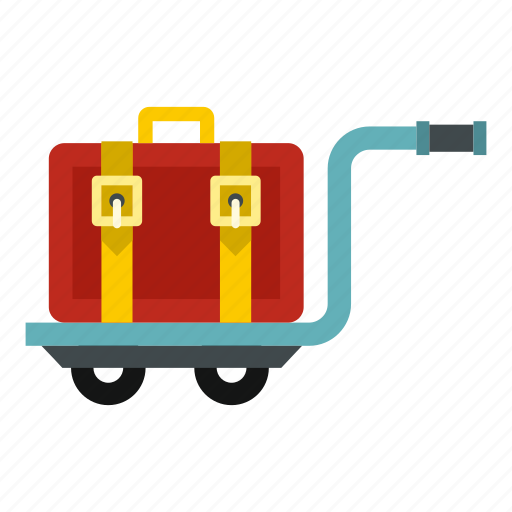 Bag, baggage, briefcase, cart, hotel, suitcase, travel icon - Download on Iconfinder