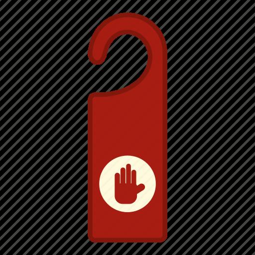 disturb, door, hanger, hotel, not, tag, travel icon