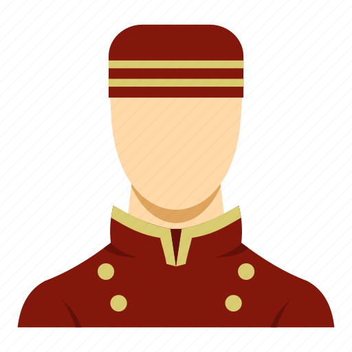 bellboy, bellhop, bellman, doorman, hotel, travel, uniform icon