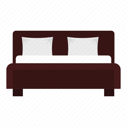 bed, bedroom, brown, comfortable, double, hotel, travel icon
