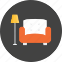 furniture, hotel, interior, living, relax, room, sofa icon